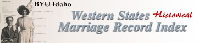 Western States Historical Marriage Index